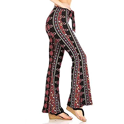 ShoSho Womens Flare and Palazzo Pants Bell Bottoms Wide Leg Spring Summer at Women's Clothing store