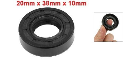 DealMux 6204RS 46mm x 21mm x 13mm Rubber Sealed Deep Groove Ball Bearing 5 Pcs
