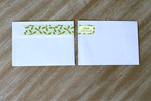 ddress Label Wrap Around Address Label Return Address Labels Holly Holiday Card Envelope Seals ()