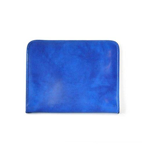 Pratesi Dante Portfolio for block-notes - R032 - (Electric Blue) by Pratesi