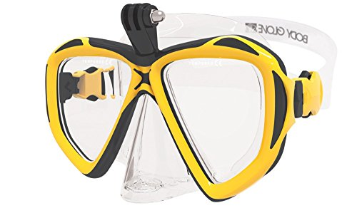 Body Glove Passage Adult Dive Mask, Yellow/Black, Large