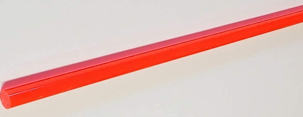 GPY 1 Pcs 1//2 Diameter by 36 Long Rods of Clear Orange Translucent Extruded Acrylic 911RK #TN2R