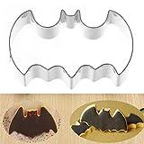 2 Pcs Classic DIY Stainless Steel Halloween Fondant Cookies Biscuit Cutter Mold Bat Batman Vampire Cake Decor Mould