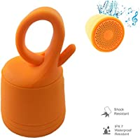 Waterproof Bluetooth Speaker Portable Mini Speaker MP3 Player with Tf Card Slot Wireless Shower Speaker Music Streaming For iPhone 7 6 Plus 5S 5C Samsung Galaxy S8 S7 S6 S5 Note 4 5 HTC Android Orange