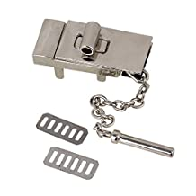 Silver Metal Leather Purse Clasps Closure Rectangle Bag Turnbutton Latch Catch Lock