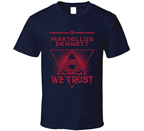 Martellus Bennett We Trust Sports Football New England Fan T Shirt Xl Navy