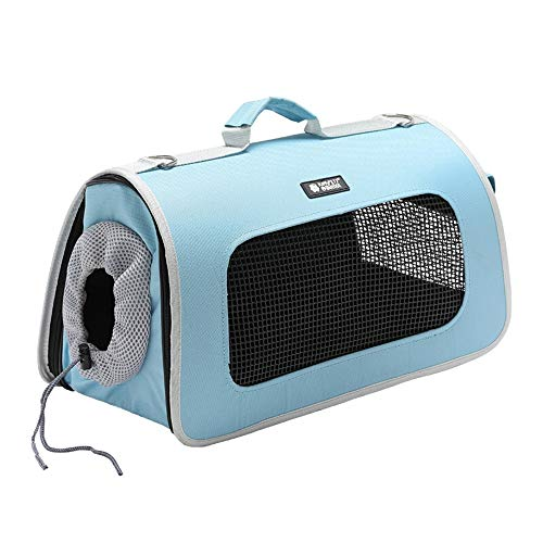 60901532820ce Weaston Cat Bag Pet Bag Dogs Go Out Portable Cat Travel Bag Backpack with  Cage Travel Box Fashion Bag Travel Bag Four Seasons Available Package ...