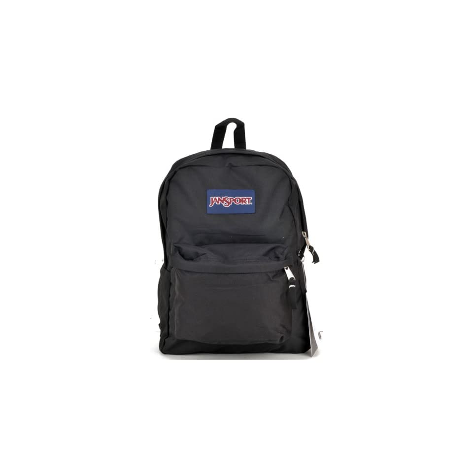 """Birthday Christmas Gift   Jansport Classic Backpack in Black Color and Elmo Water Bottle Set, Backpack Size Approximately 16"""" Toys & Games"""
