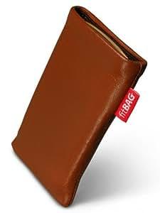 Beat Brown fitBAG-Funda con pestaña para Sony Ericsson S302. piel de napa de calidad superior con forro de microfibra para limpieza de pantalla