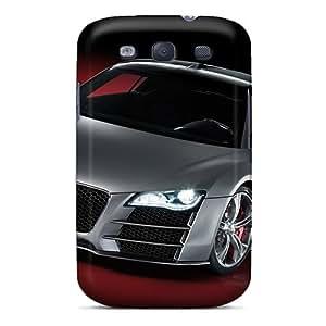 RitaSokul Samsung Galaxy S3 Scratch Resistant Hard Phone Cases Support Personal Customs HD Audi R8 Pattern [myc9595EMsc]