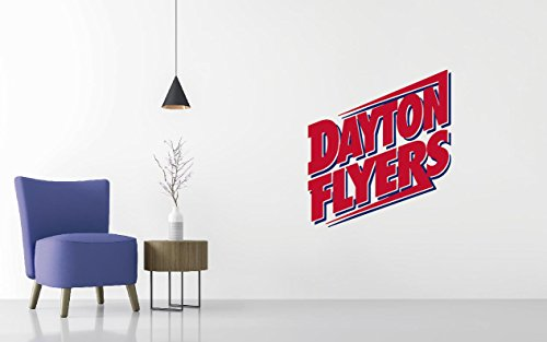 Dayton Flyers - Basketball Team Logo - Wall Decal Removable & Reusable For Home Bedroom (Wide40 x 44
