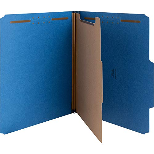 Nature Saver SP17202 Classification Folders, 2-Inch Exp,1 Dvdr,Letter,10/BX,DBE