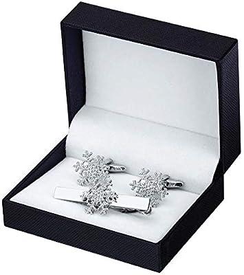 LXFENG Gemelos y Clip de Corbata Conjunto Forma de Copo de Nieve ...