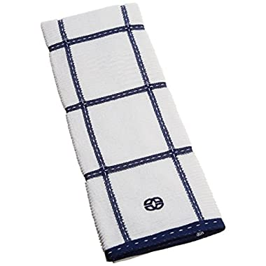 Calphalon Textiles Large Check Terry Kitchen Towel, Sapphire
