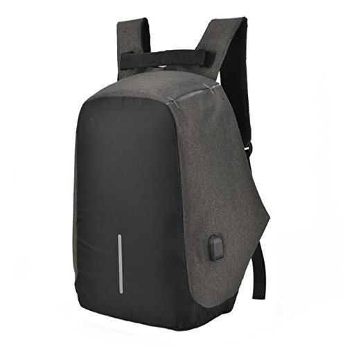 Sports Oxford Shoulder Anti Bag Casual Student Backpack Computer Cloth Package Black Theft tpqqFwTO