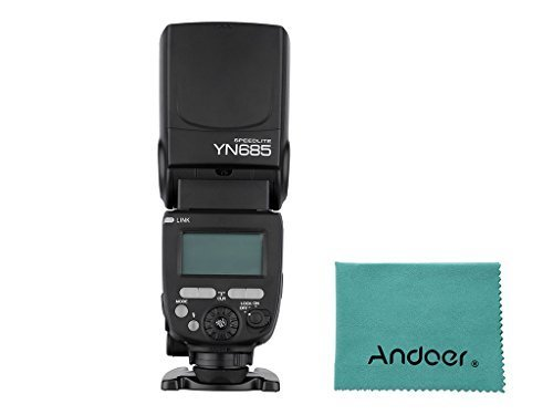 YONGNUO YN685 E-TTL HSS 1/8000s GN60 2.4G Wireless Flash Speedlite Speedlight for Canon DSLR Cameras Compatible with YONGNUO 622C/603 wireless system + Andoer® Lens Cleaning Cloth