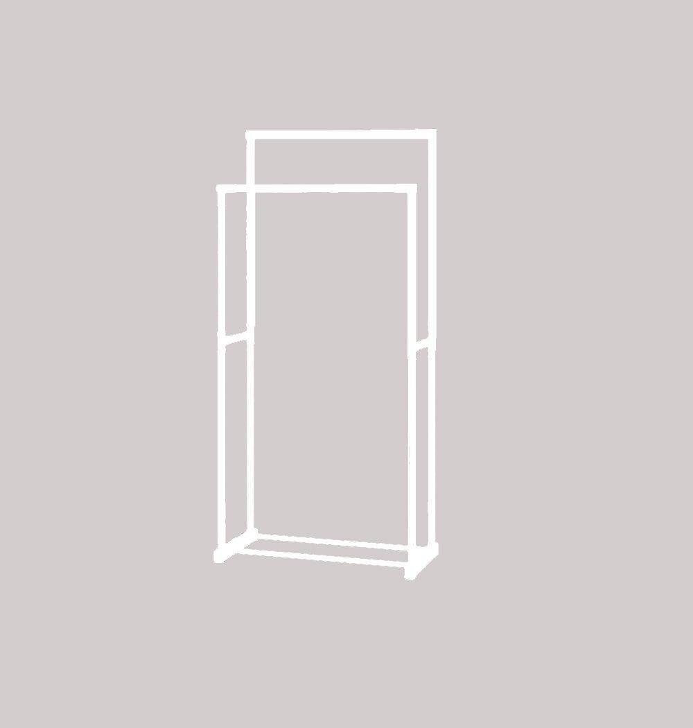 Drying racks / floor folding indoor double rod drying rack / balcony stretch drying rack / Double pole coat rack/multi-functional shelf racks (70 35 143cm) ( Color : White )