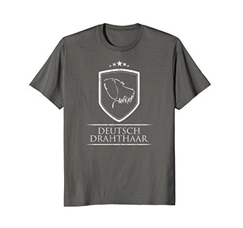 Mens Deutsch Drahthaar T-Shirt dog hund tee Shirt gift XL Asphalt