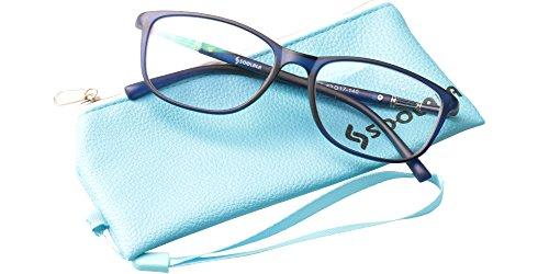 de523a704a SOOLALA Lightweight TR90 Full Frame Oversized Clear Lens Eyeglasses Reading  Glasses