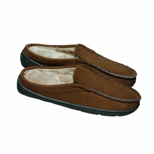 Conair Men's Massaging Slippers, Brown by Conair