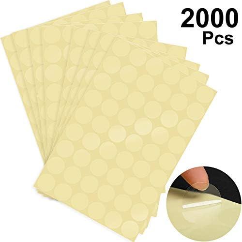 2000 Stücke Klare Verkauf Verpackung Runde Klare Siegel Etiketten Klare Aufkleber Runde Umschlag Aufkleber, Transparent (Stil A)