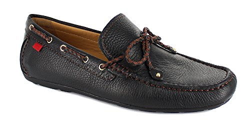 Gold Braid Heels Shoes (Marc Joseph NY Men's Fashion Shoes Cypress Hill Braid Black Grainy Loafer Size 8.5 (More Size/Colors Available))