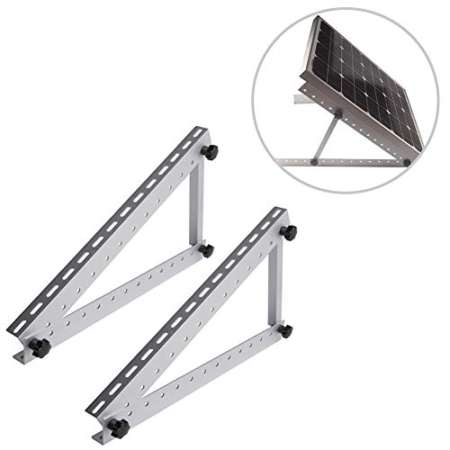 H&ZT 28 inch Adjustable Solar Panel Mounting Rack Bracket, RV Roofs, Boat (28-inch -
