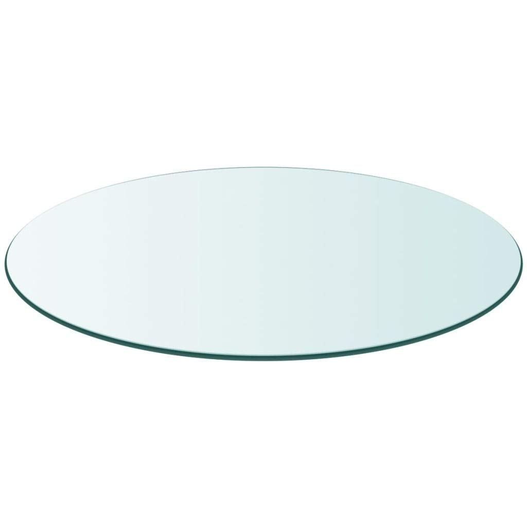 Table Top Tempered Glass Round 11.8'' by Youwend