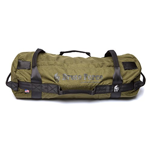Brute Force Sandbags - Athlete Sandbag - Army Green - Athletic Elite XL Sandbag Training Workout Bag Heavy Duty Sandbag Physical Therapy Sandbag