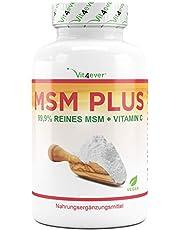 MSM 400 Tabletten - 2000 mg pro Tagesportion - 99,9% reines organisches Schwefel-Pulver – Methylsulfonylmethan – Hochdosiert – Vegan – Gelenke & Haut – Vit4ever