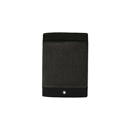 Montblanc 107638 Meisterstuck Canvas Passport Holder Grey Leather by MONTBLANC