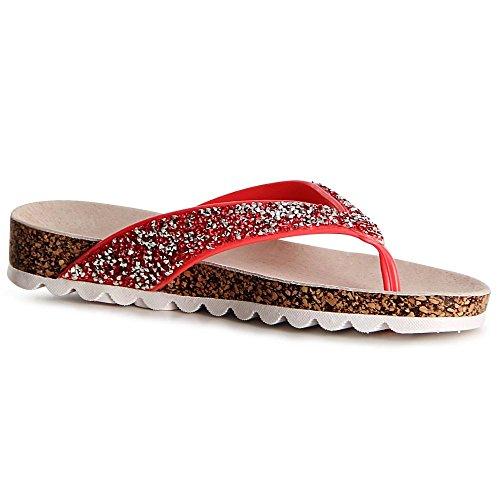 topschuhe24 Pink Sandales topschuhe24 Sandalettes Femmes Femmes gwUZdg