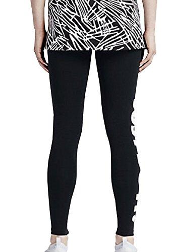 Women's Nike Leg-A-See Just Do It Leggings (726085-010) - BLACK/WHITE (X-Small)