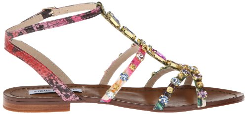 f91e56406f7aa Steve Madden Women's B Jeweled Dress Sandal,Bright Multi,6.5 M US ...