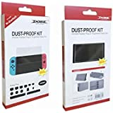 TMG Dust-Proof Kit and Tempered Glass Screen Protector for Nintendo Switch Console
