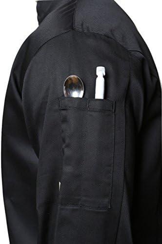 Mirabella Health /& Beauty Unisex Sorrel Chefs Long Sleeve Jacket