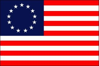 Annin Flagmakers 318200 4 ft. X 6 ft. Cotton Bunting Betsy Ross with Embroidered Stars