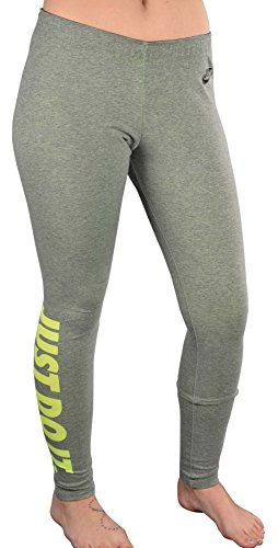 3e572e23833cf NIKE Women's Leg-A-See Just Do It Tights, Carbon Heather/Volt/Black, Medium  - Buy Online in UAE. | Sporting Goods Products in the UAE - See Prices, ...