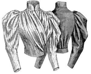 [1893 Blouse with Surplice Front Pattern] (Victorian Era Womens Costumes)