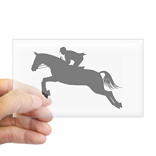 CafePress - Horse Jumping Silhouette - Rectangle Bumper Sticker Car Decal (Jumping Horse Photo)