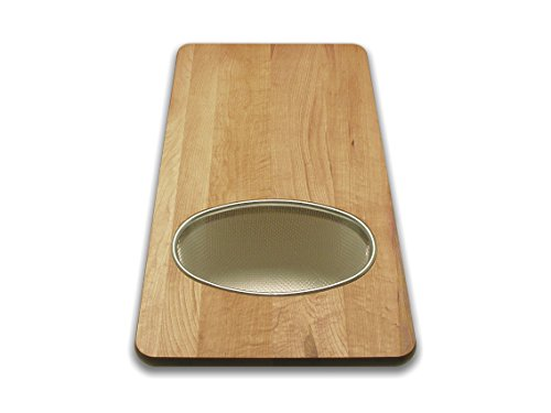 Snow River USA 7V03351 Hardwood Maple Over the Sink Board with Stainless Wire Basket 12