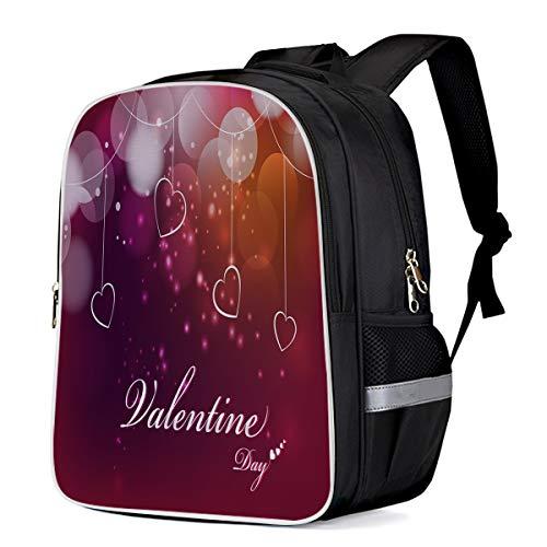 Fashion Elementary Student School Bags- Dreamlike Loving Heart Decoration - Durable School Backpacks Outdoor Daypack Travel Packback for Kids Boys Girls