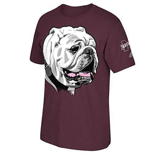 adidas Mississippi State Bulldogs Maroon Big Mascot T-Shirt Medium