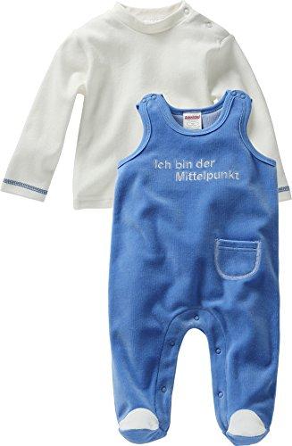 Schnizler Unisex Baby Strampler Set Nicki, Ich bin der Mittelpunkt, 2 - tlg. mit Langarmshirt, Oeko - Tex Standard 100, Gr. 68, Blau (blau 7)