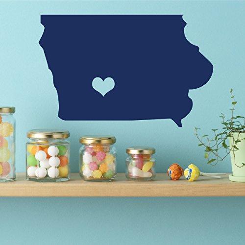 Iowa Decal - Vinyl Wall Art, 29th State, Des Moines Iowa, Midwestern State, Iowa Hawkeyes