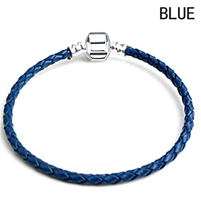 Asdf Men Bracelet Braided Leather Bracelet Magnetic Buckle Simple Wristband Jewelry Gifts Blue Estimated Price £20.41 -