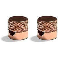 Sarè – Fijación de pared de metal para cable textil – Pack de 2 - Cobre