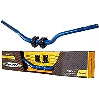 Guidão Oxxy Super Fat Bar Hornet Xj6 E Adaptador Azul