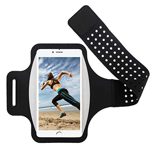 Guzack Running Armband voor iPhone 11/11 Pro/X/XR/XS/8/7/6s, Samsung Galaxy A 50s/S20/S10/S9/S8/S7/S6/S5, tot 6,5 inch…