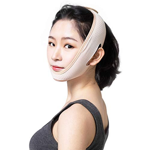 Face Slimming Belt, Facial Cheek V Shape Lift Up Thin Mask Recovery Compression Chin Strap V Line Band Neck Compression Face
